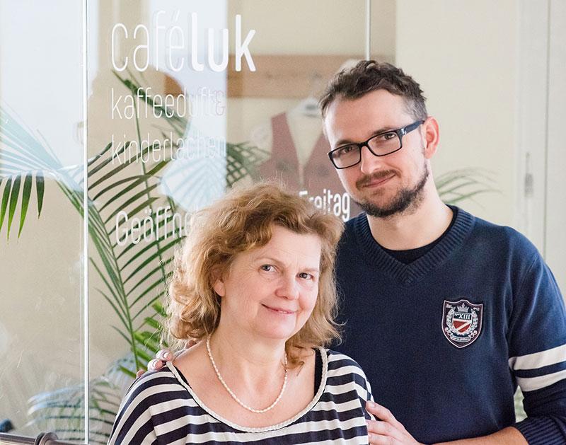 Cafe Luk Jan und Angela